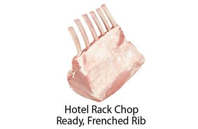 Hotel Rack Chop Ready Frenched Rib
